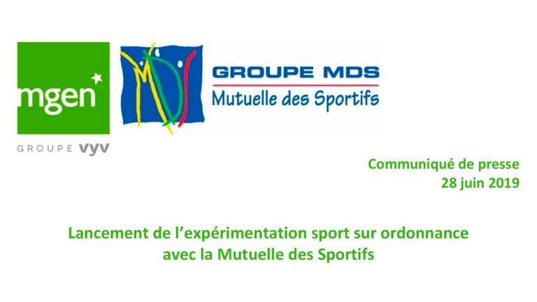 Lancement de l'expérimentation sport sur ordonnance avec la Mutuelle des Sportifs